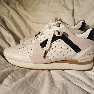 MK White & Blk Tennis Shoes